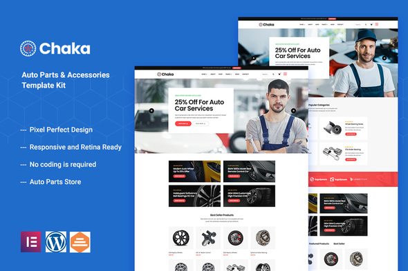 Chakta – Auto Parts Store & Accessories Elementor Template Kit (Nulled) [Latest Version] thumbnail