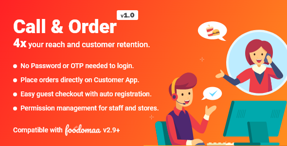 Call And Order Module for Foodomaa (Nulled) [Latest Version] thumbnail