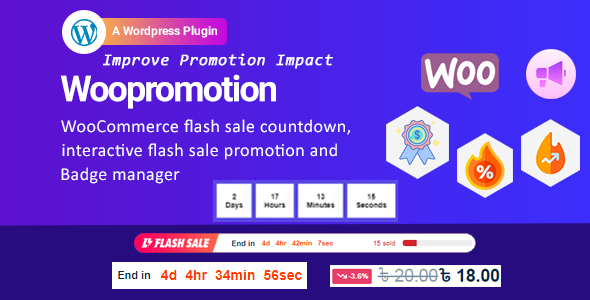 Woopromotion – WooCommerce product promotion sale countdown and Badge Manager (Nulled) [Latest Version] thumbnail