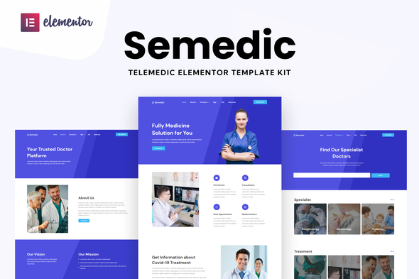 [Free Download] Semedic – Doctor Telehealth Elementor Template Kit (Nulled) [Latest Version]