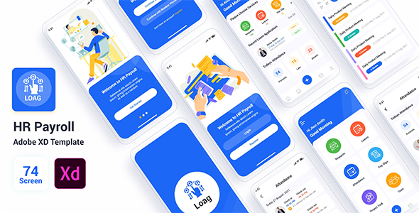Loag – HR Payroll Adobe XD Template (Nulled) [Latest Version] thumbnail