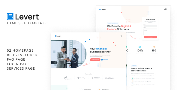 [Free Download] Levert – Financial Business HTML Site Template (Nulled) [Latest Version]