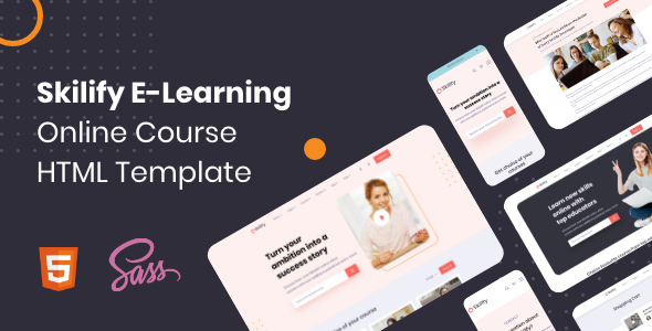Skilify E-Learning Website – Online Course HTML Template Built With Bootstrap (Nulled) [Latest Version] thumbnail