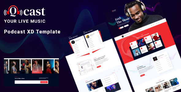 Qcast – Podcast XD Template (Nulled) [Latest Version] thumbnail