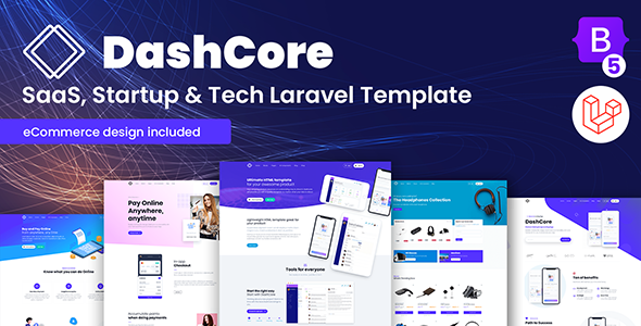 DashCore – SaaS & Software Bootstrap 5 Laravel Template (Nulled) [Latest Version] thumbnail