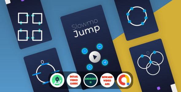 Slowmo Jump : (Android Studio+Admob+Reward Video+Remove Ads purchase+Leaderboards+Onesignal) (Nulled) [Latest Version] thumbnail