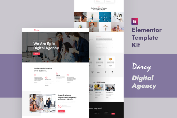 [Free Download] Darcy – Creative Agency Elementor Template Kit (Nulled) [Latest Version]